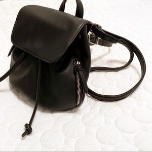 Handbags - Small Faux Leather Backpack